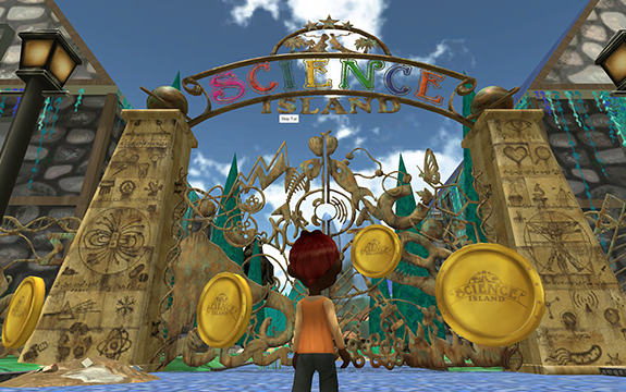 A screenshot from Science Island video game.