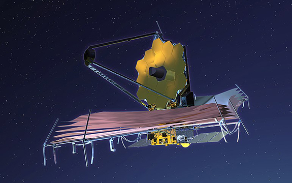 Artist's impression of James Webb Space Telescope