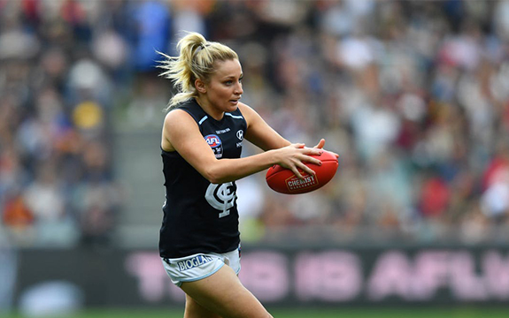AFLW player Sarah Hosking from Carlton