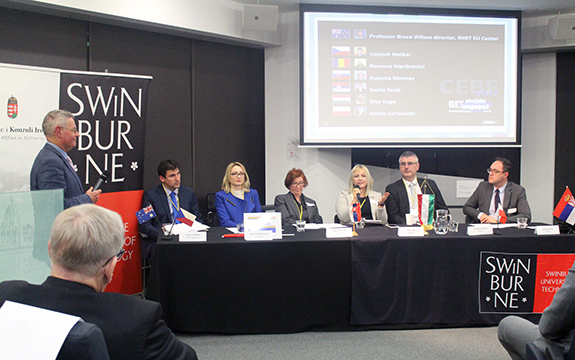 Participants at the Central European Business Forum at Swinburne