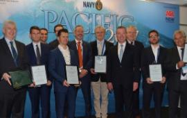 Maritime award winners with Christopher Pyne