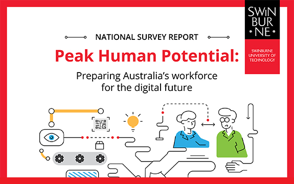 Cover of the future of work report