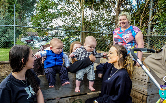 Swinburne's Young Mums Program gets its own garden