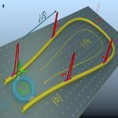 Graphic representation of a laser cavity-soliton micro-comb generating efficient femtosecond laser pulses, based on an integrated ring resonator embedded in a fibre loop.