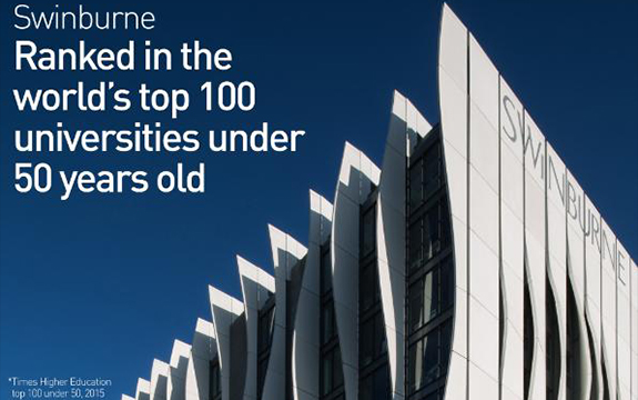 Swinburne ranked in the times higher education top 100 under 50