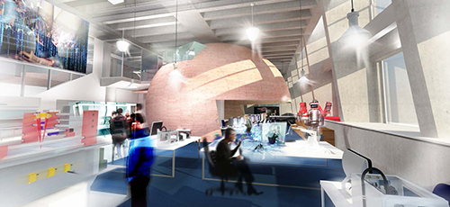 An artist's impression of the Factory of the Future at Swinburne's Hawthorn campus.