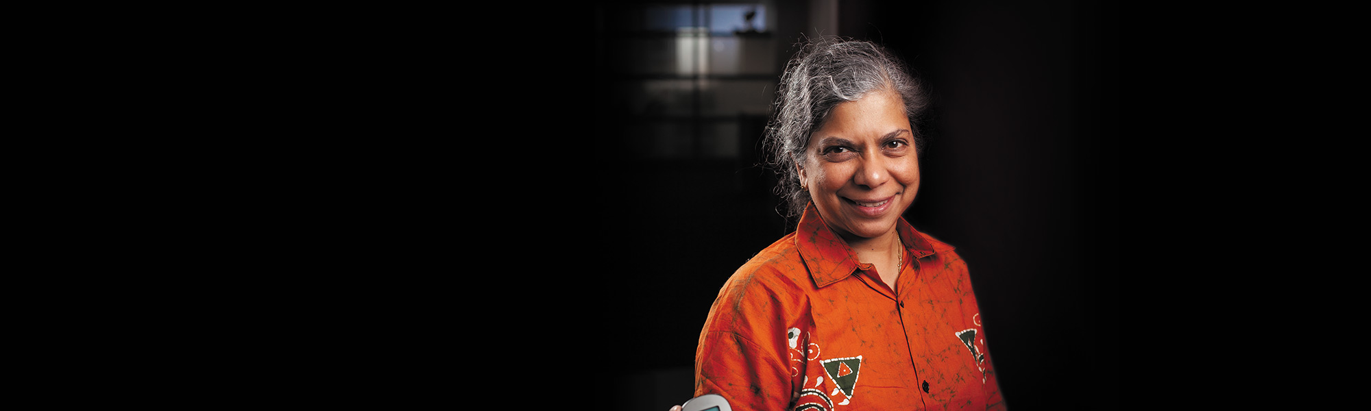 Professor Nilmini Wickramasinghe smiling.