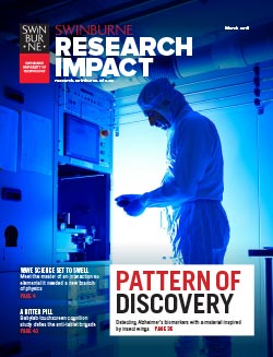 Cover of the 2016 Swinburne Research Impact Magazine.