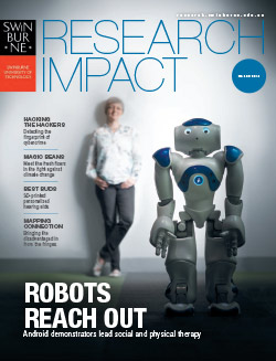 Research impact magazine 2018 cover.