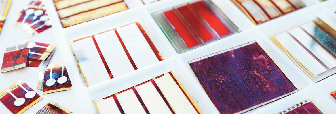 Environmentally friendly solar panels using organic dyes.