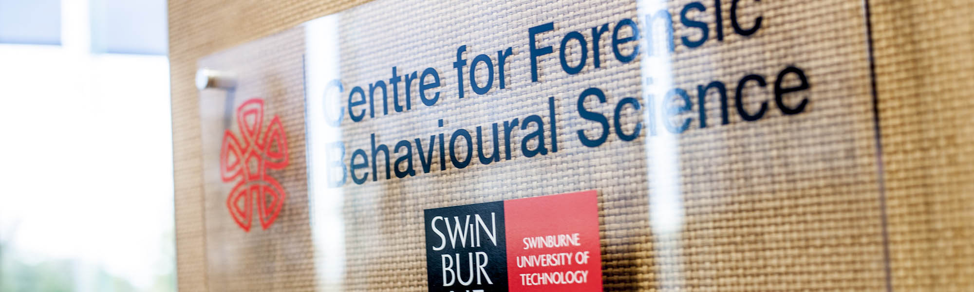 The entrance to the Centre for Forensic Behavioural Science.