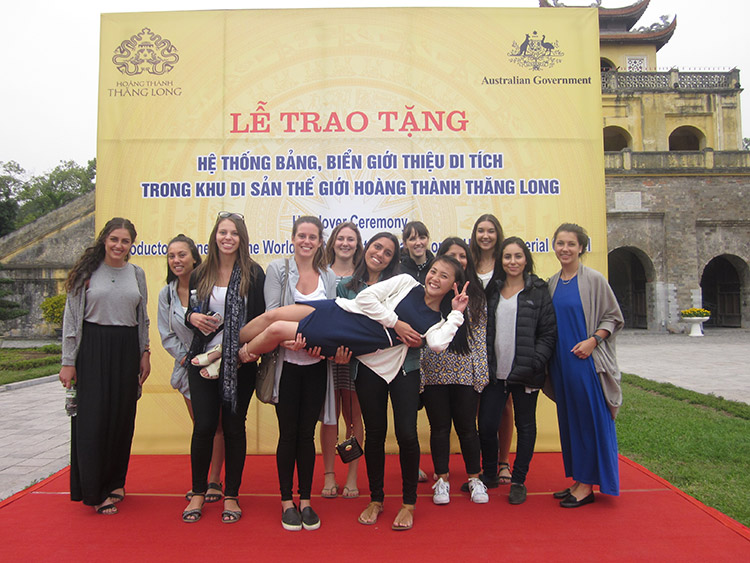 Students from 2015 Design-centred Vietnam study tour.