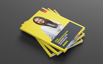 Cover of the Swinburne 2020 undergraduate course guide.