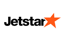 The logo of Jetstar.