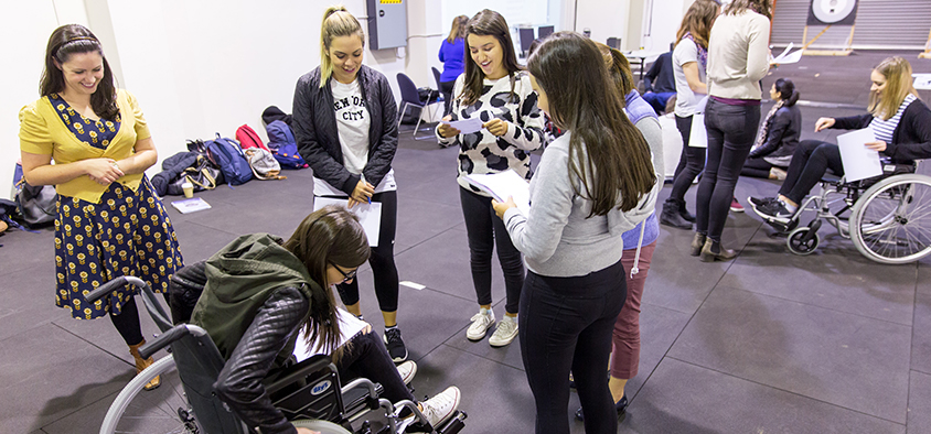 Students have hands-on participation in Swinburne's Master of Occupational Therapy course.