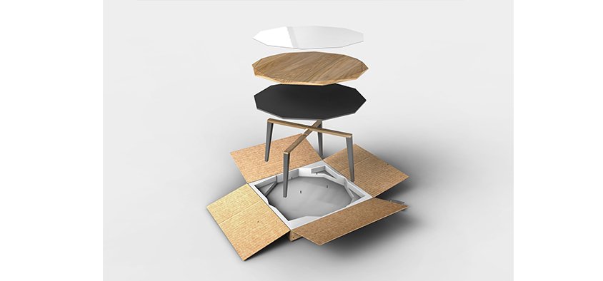 Chair designed by industrial design student alexandra tyquin