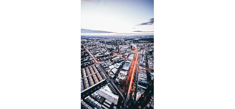 A birdseye view of Melbourne city by Photoimaging student Daniel Wright