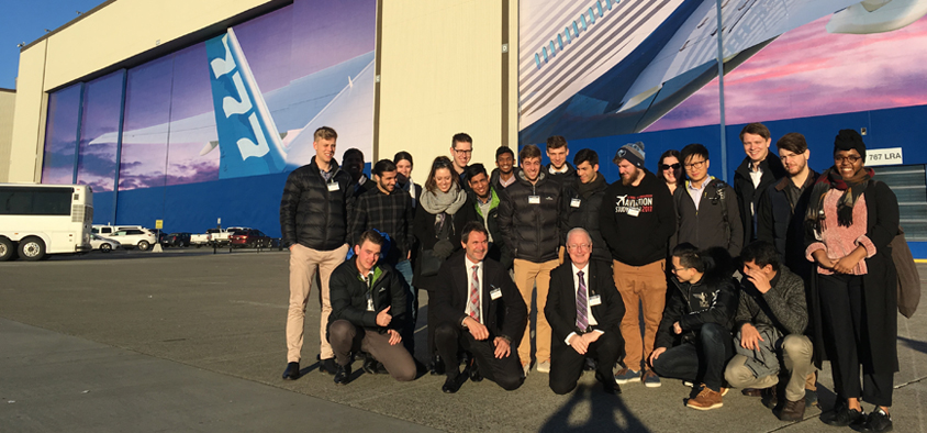 Aviation study tour Boeing assembly Seattle USA
