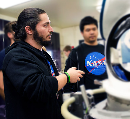 Games graduate Emre at NASA.